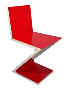 zigzag red chair