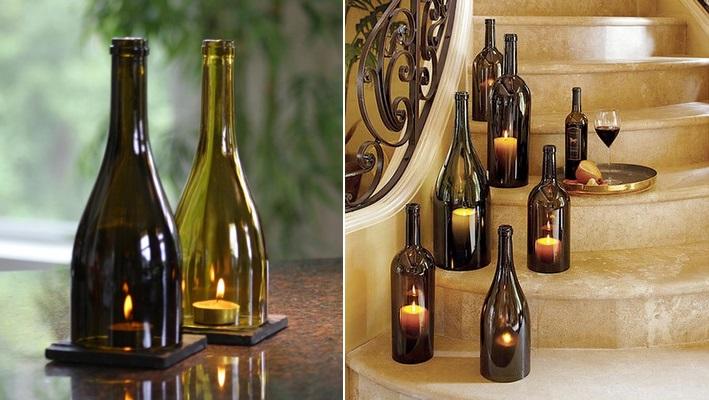 Velas-decoración-con-botellas-de-vino