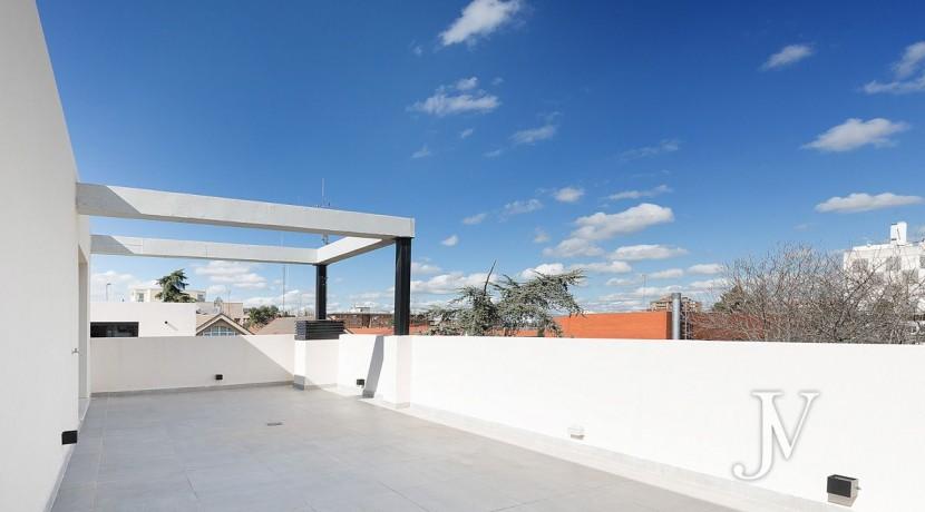 Puerta de Hierro- Obra Nueva, pareado, salón con techos de doble altura 10