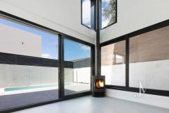 Puerta de Hierro- Obra Nueva, pareado, salón con techos de doble altura 29