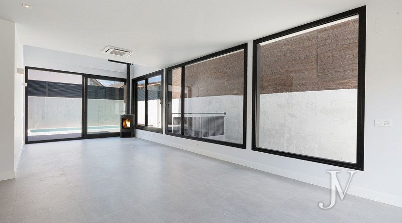 Puerta de Hierro- Obra Nueva, pareado, salón con techos de doble altura 31