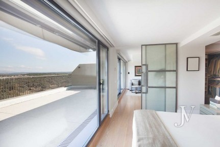 One of the best penthouses of Madrid, bordering el Pardo, impressive views