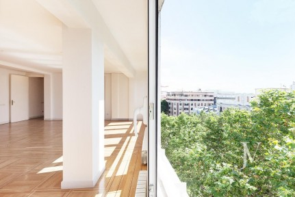 Salamanca Neighborhood, best section of Velazquez str, 6th floor with views above the trees