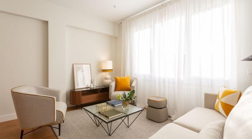 Barrio de Salamanca, A Estrenar, amueblado, 2 dormitorios con 2 baños + 1 aseo. Castelló semiesquina con Jose Ortega y Gasset 9