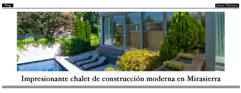 Impresionante chalet de construcción moderna en Mirasierra